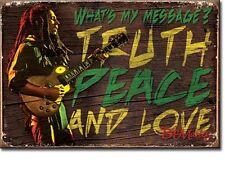 Bob Marley Truth Peace Love steel fridge magnet    (de)