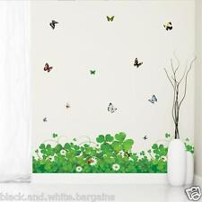 Flowers Wall Sticker Decal Removable Skirting Border Home Nursery Decor