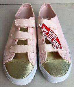Vans Style 23 V Metallic Toe Heavenly Pink Women's Shoes, Size 7 US