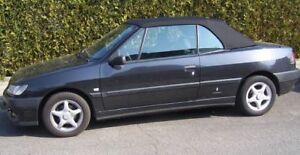 Peugeot 306 Capot Cabriolet Tissu noir Qualité R