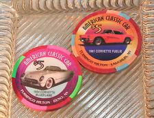 Corvette 1954 1961  Casino Chip Hot August Nights Tahoe Reno $5 Issued 1999 Luck