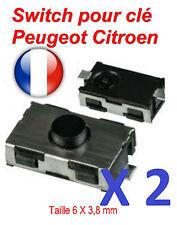 2x Switch bouton de clé Peugeot 206 307 406 Citroen C1 C2 C3 C4 Berlingo Picasso
