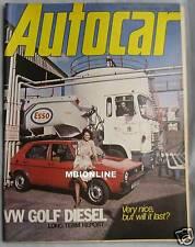 Autocar magazine 14/4/1979 featuring Fiat X1/9