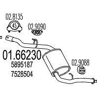 0166230 MARMITTA TERMINALE FIAT UNO DAL 1988 AL 1992