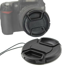 10pcs 77mm Front Lens Cap Snap-on Protector with Cord for 77mm DSLR Filter