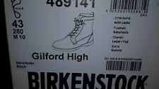 BNIB Birkenstock Gilford High Men's Black Leather Boots Size 43 9 FELL Sheepskin