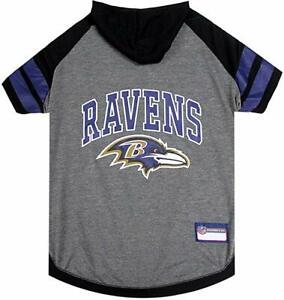 Pet's First Baltimore Ravens NFL Official Licensed Pet Hoodie Tee for Dogs Small