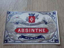 ETIQUETTE ANCIENNE CHROMO ALCOOL / ABSINTHE Litho Haberer Douin