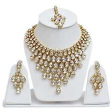 Indian Gold Plated Necklace Fashion Bollywood Jewellery Earrings Set