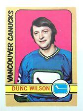 1972-73 Dunc Wilson Vancouver Canucks 18 OPC O-Pee-Chee Hockey Card N928