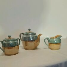 Teapot, Sugar Bowl, Creamer salt & pepper shakers Luster-ware  Japan