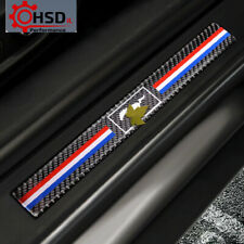 Carbon Fiber Door Sill Scuff Plate Guards Stickers For Ford Mustang 2015-2019