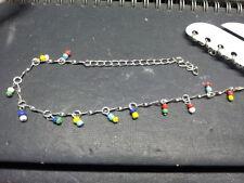 1 cavigliera corallini bagno argento 27 cm bracciale da caviglia estate anklet