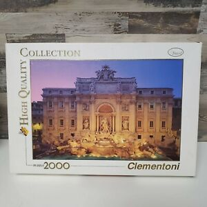 Clementoni Trevi Fountain Rome High Quality Collection Puzzle 2000 New Open Box