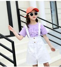 Ienens conjuntos De Roupas Infantil Para Meninas Camiseta + Roupas Vestido Terno Roupa De Algodão Tops