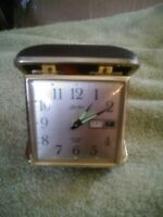 Linden Travel Alarm Clock Day & Date - Japan - Glow in the Dark Hands - Tested