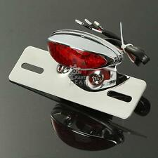 Custom Motorcycle Brake Tail Light For Harley Chopper License Plate Bracket