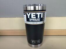 Yeti Rambler 20 oz Vacuum Insulated Tumbler w/ Magslider Lid Black New