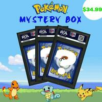 PSA Pokemon Mystery Box (Booster Packs, Holo, Rares) Charizard VMAX Pikachu M NM