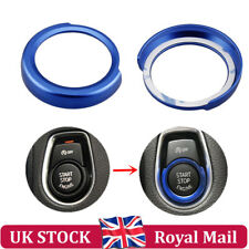 For BMW 1 2 3 4 Series Blue Interior Engine Start Button Switch Frame Cover Trim