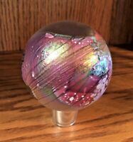 "🌙✨GLASSHOUSE Signed 3-3/8"" ART GLASS IRIDESCENT CELESTIAL Paperweight 1994"