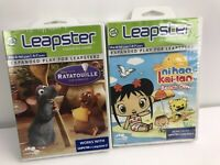 2 LeapFrog Leapster Ratatouille & Nihao Learning Game Cartridge Pre-K -1st Grade