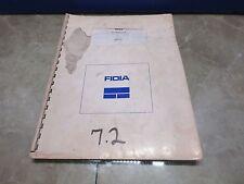 FIDIA CNC INDEX V7.2 MANUAL MD0541 EDITION 1-09/93 CNC V7.2