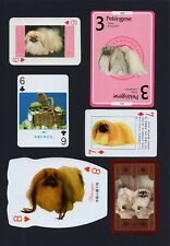 PEKINGESE MOUNTED COLLECTION OF VINTAGE DOG PLAYING CARDS GREAT GIFT