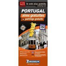 carte routiére avec aires gratuites et parkings gratuits Portugal