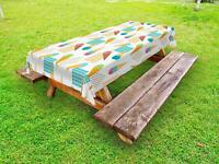 Ice Cream Outdoor Picnic Tablecloth in 3 Sizes Washable Waterproof
