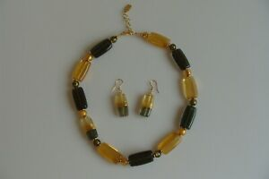 Parure Chain Earrings Necklace Orig. Murano Glass Jewelry Glass Unique Handwork