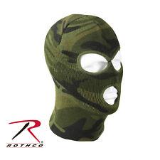 Woodland Camo Winter Cold Weather Three Hole Acrylic Face Ski Mask Rothco 5596