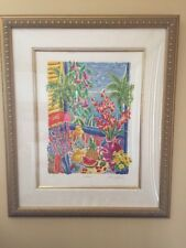 "Cathi Whiting ""Lantana"" ARTIST PROOF SIGNED ART Paint Serigraph - Uk Artist"