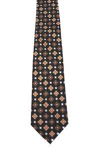 WALBUSCH Krawatte Tie dunkelbraun mit Muster 100% Seide (A1/73)