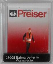 Preiser 28008 Rail Worker Wearing Safety Vest 00/H0 Model Railway Figures