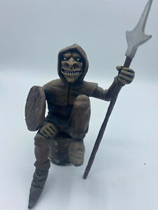 MEDIEVAL SITTING FANTASY FIGURE WITH SPEAR