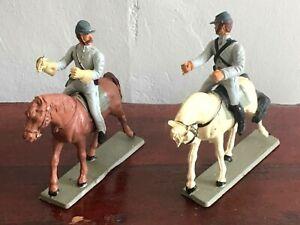 American Civil War. 2 Confederate mounted cavalrymen. Starlux France