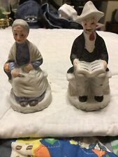 Vintage The Marquise Collection Porcelain Figurines Old Man And Old Woman 5 Inch
