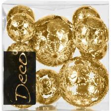 11-tlg Set. Eurosand Metallkugeln, Deko Kugeln, Streudeko, gold