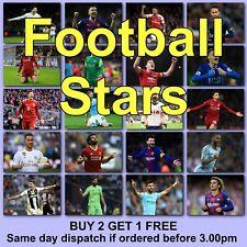 Football Poster Footballer Posters Soccer Poster HD Borderless Printing Photo
