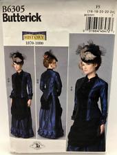 Butterick Sewing Pattern B6305 Making History 1870-1880 Dress Sizes 16-24 Uncut