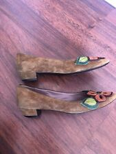 Miu Miu Suede Tan Shoes Size 39.5