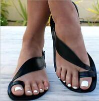 Womens Flat Casual Clip Toe Sandals Buckle Slingback Slippers Flip Flops Scuffs