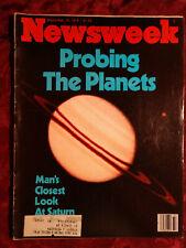 Newsweek September 10 1979 Sept Sep 79 Pioneer 11 Saturn Western Cowboy Art +
