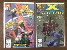 X-Factor  #54 #55  1st Crimson Colossus David  (1986 1st Series)  X-Men  VF-