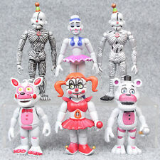 6 PCS Five Nights at Freddy's Foxy FNAF Freddy Action Figures Doll Kids Toy Set
