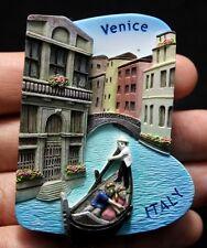 Venice Gondola Italy 3D Fridge Magnet Sculpture Italian Canals Europe Souvenir