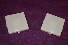 NEW GM REPRODUCTION WHITE INTERIOR LENSES WITH CADILLAC CREST #8732784 - PAIR
