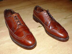 Florsheim Royal Imperial Pebbled Brown V Cleat Wingtip Mens Best Shoes Sz 11 C