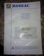 Bateau Zodiac cadet c200vc240 c260 Manuel de l'utilisateur volume 2 rare